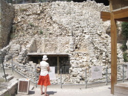 Researching in Jerusalem at Nehemiah's Wall